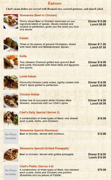 The restaurant information including the Chef\u0027s Door menu items and prices may have been modified since the last website update.  sc 1 st  Restaurant Guru & Menu at Chef\u0027s Door restaurant Oakville 117 Cross Ave