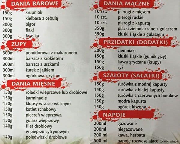 Kuchnia Polsko śląska Menu Menu For Kuchnia Polsko śląska