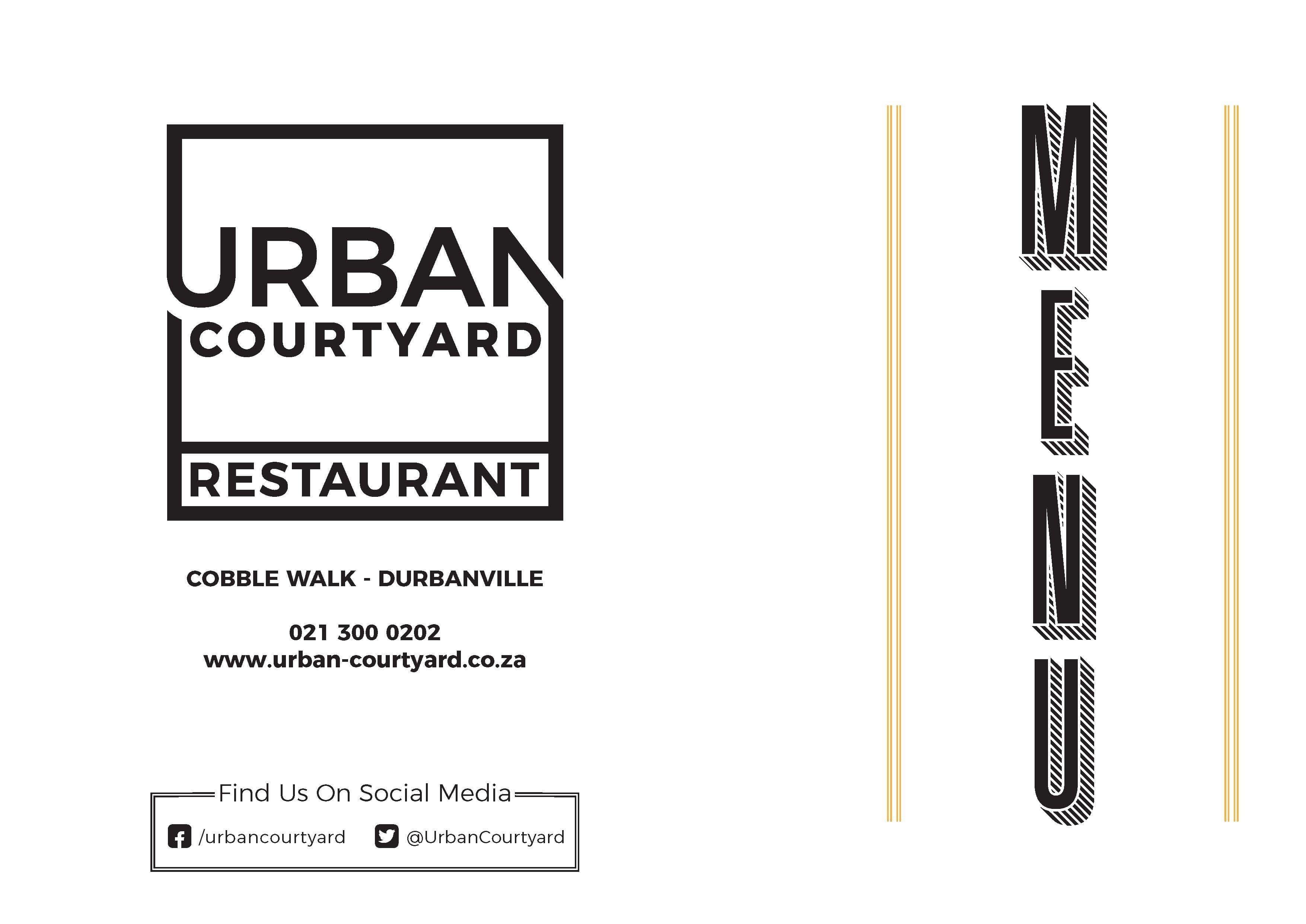Urban Courtyard Menu, Menu for Urban Courtyard, Durbanville, Cape ...