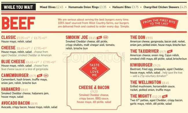 menu at gourmet burger kitchen, unit  the waters edge brindley,Gourmet Kitchen Menu,Kitchen design