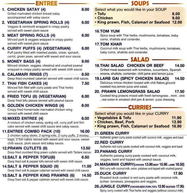 Ta Wan Thai Restaurant