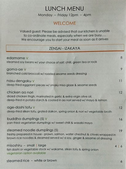Chocolate Buddha Menu, Menu for Chocolate Buddha, CBD