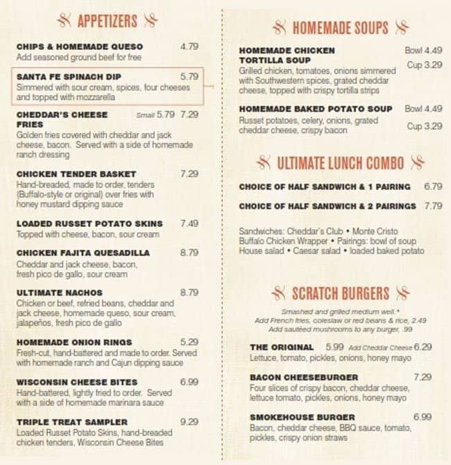 Cheddar S Scratch Kitchen Tucson Menu