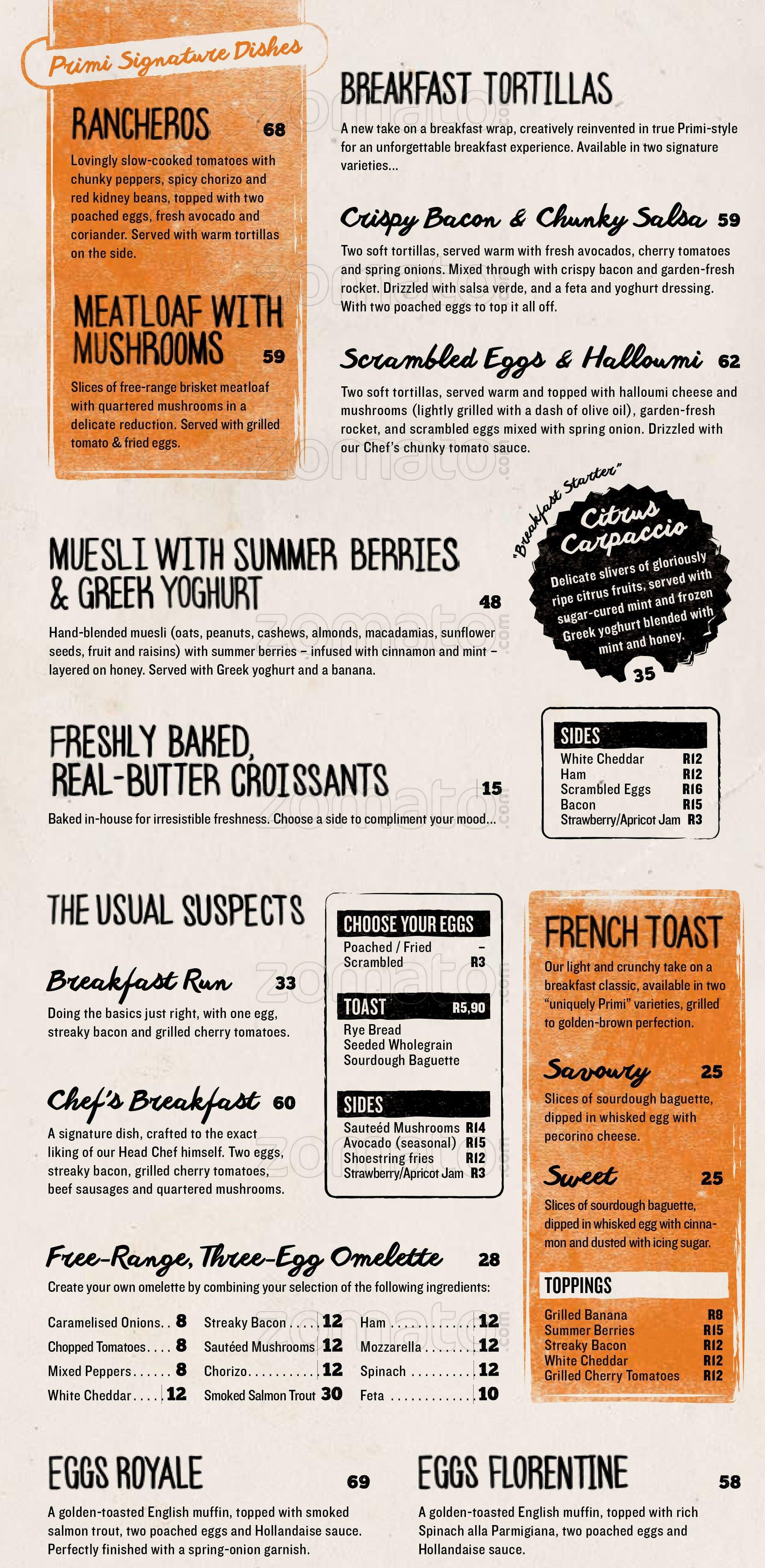primi piatti menu menu for primi piatti melrose arch