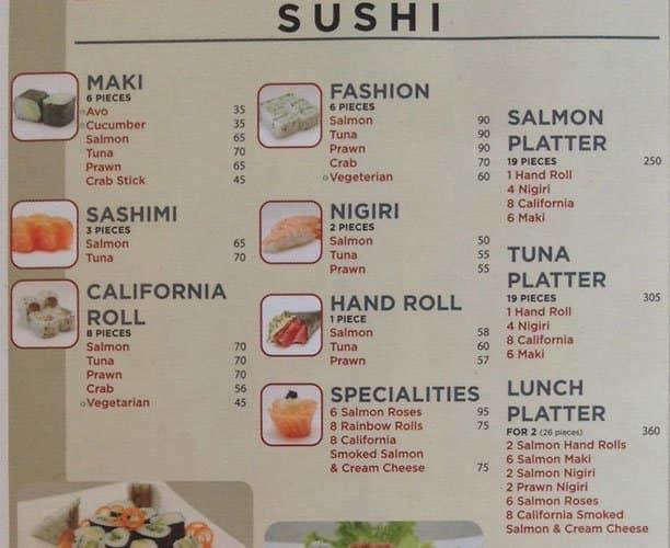 Kitchen bar menu menú para fourways sandton