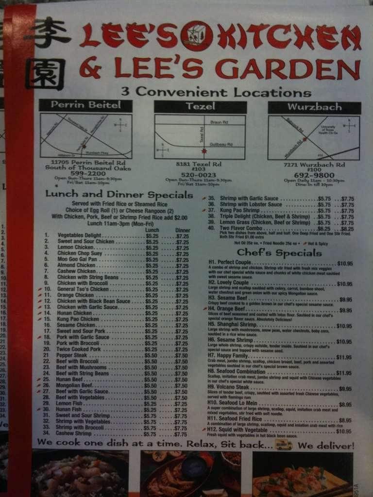 Lee 39 s kitchen menu menu for lee 39 s kitchen far west side for W kitchen verbier menu