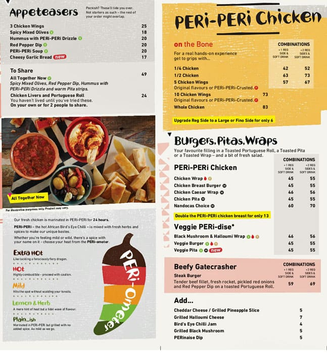 Nando's Menu, Menu for Nando's, Palm Jumeirah, Dubai - Zomato