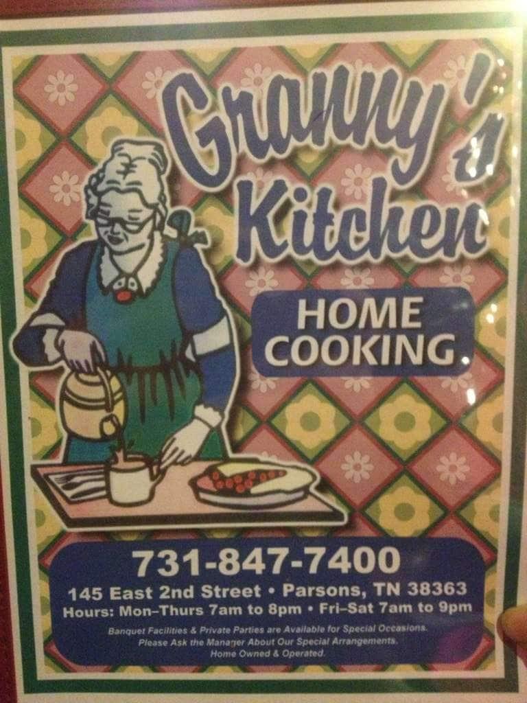 Granny\'s Kitchen Menu, Menu for Granny\'s Kitchen, Parsons, Parsons ...