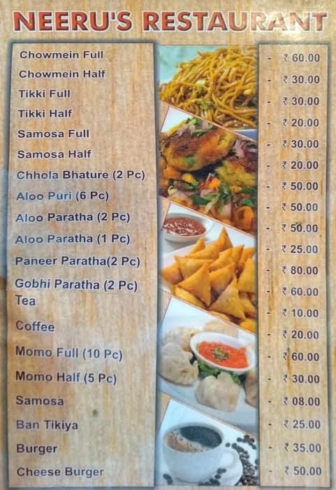 Neeru's Menu, Menu for Neeru's, Tallital, Nainital - Zomato