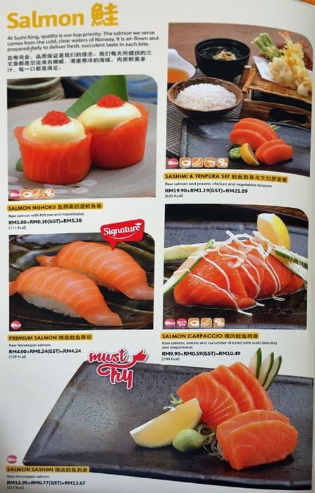 Sushi King Menu Menu For Sushi King Taman Dagang Selangor