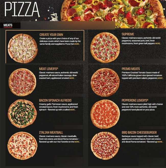 Pizza Hut Menu, Menu for Pizza Hut, Tomball, Houston ...