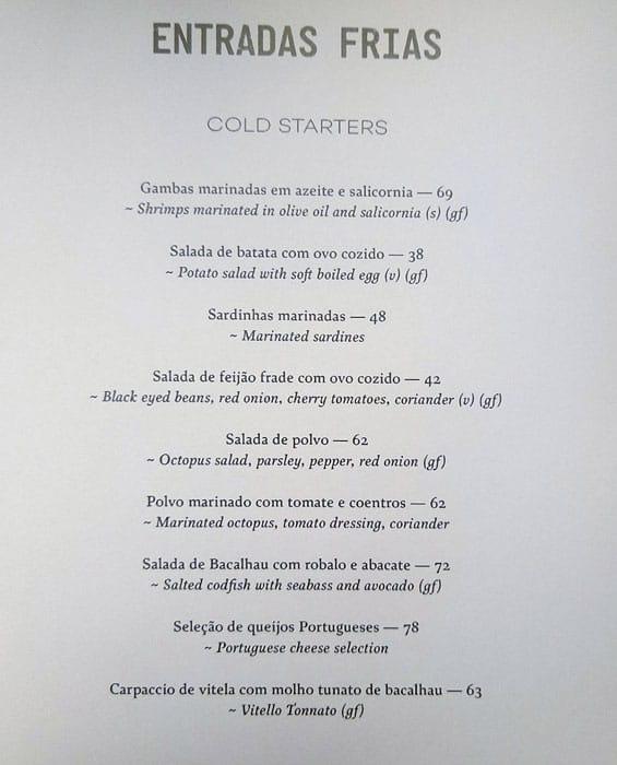 منيو مطعم لانا لوسا دبي