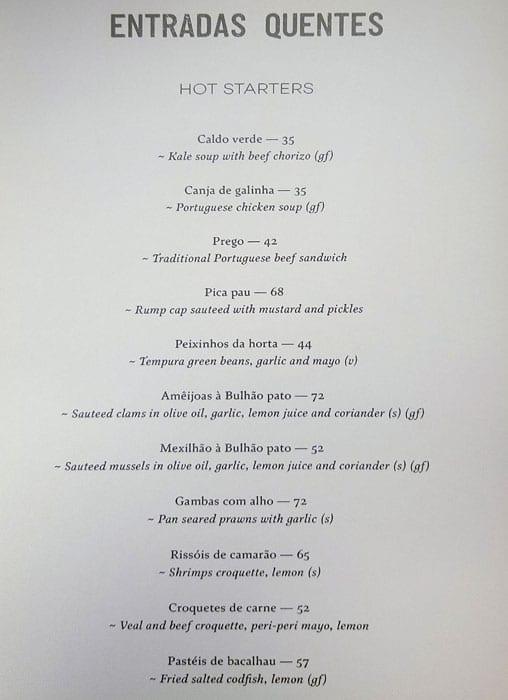 منيو مطعم لانا لوسا