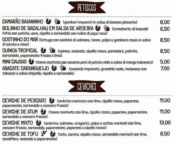 Temakinho a milano foto del menu con prezzi zomato italia for Carta rinascente