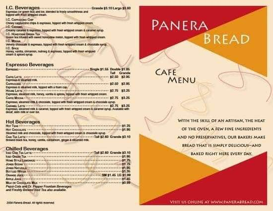 We accept Credit Cards, Panera Gift Cards, and PayPal (in participating bakery-cafes).