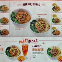 scanned menu for mie