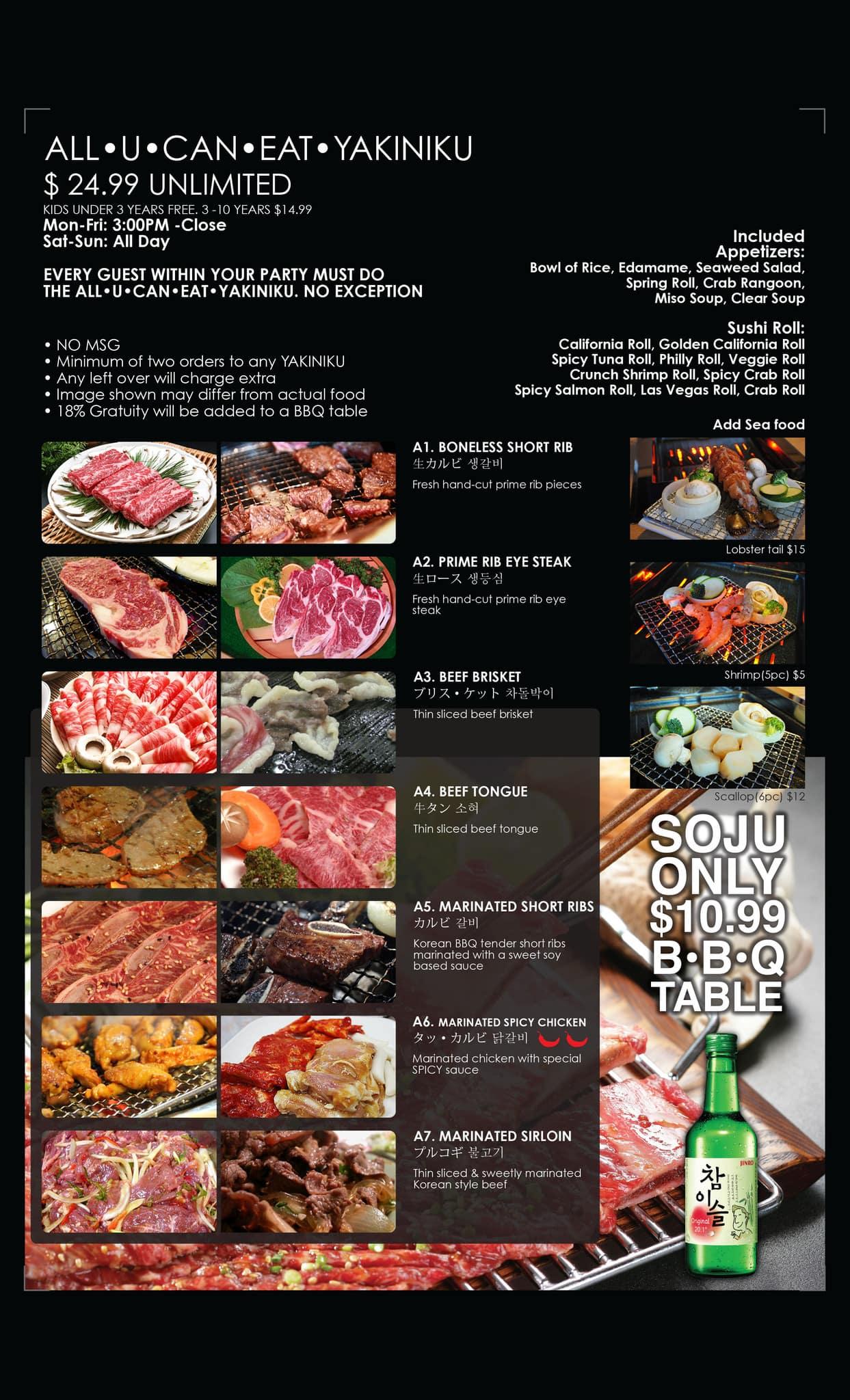 54b6bd4518b0 Izziban Sushi Menu