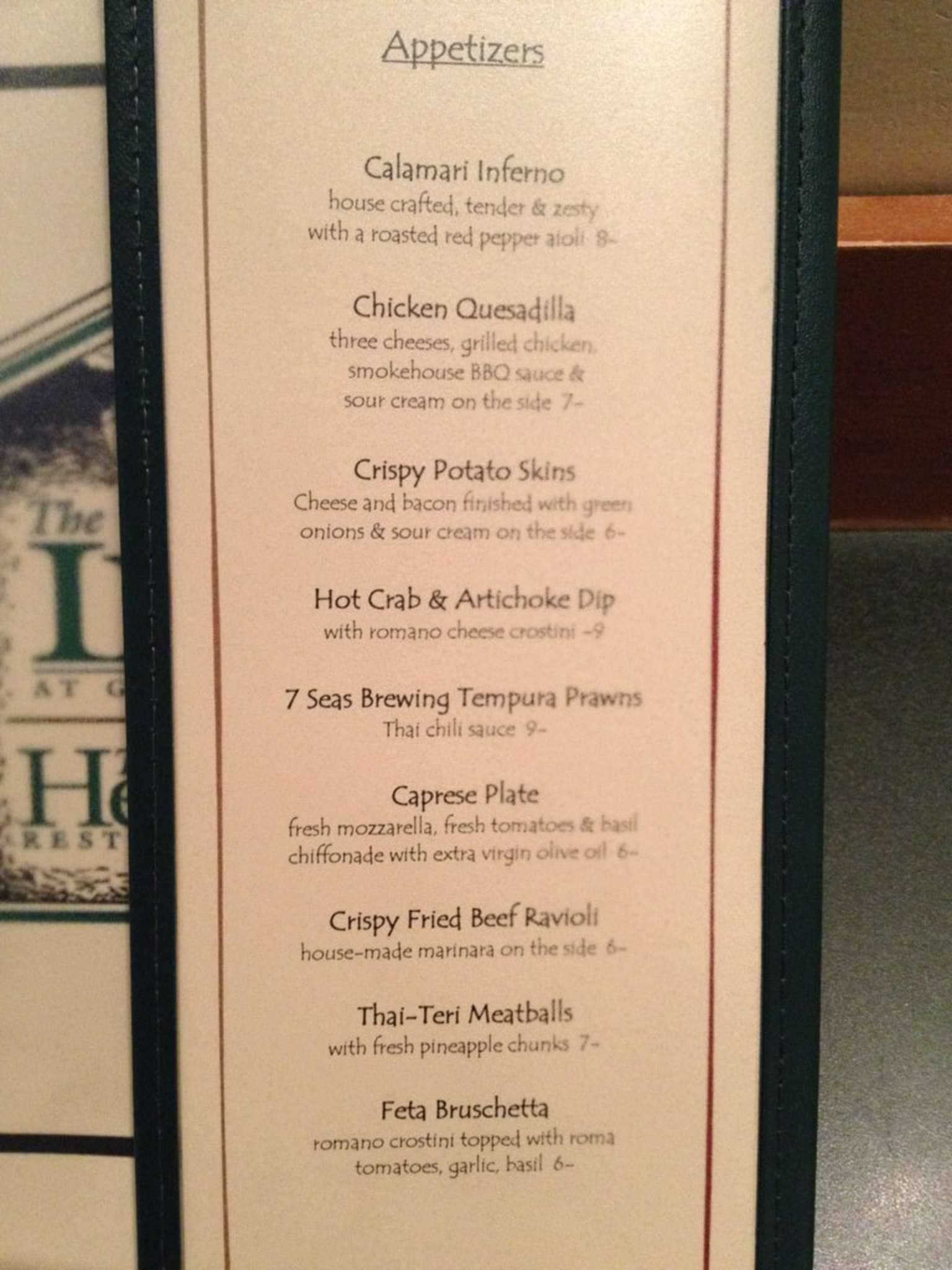 Heritage Restaurant Menu Menu For Heritage Restaurant Gig Harbor