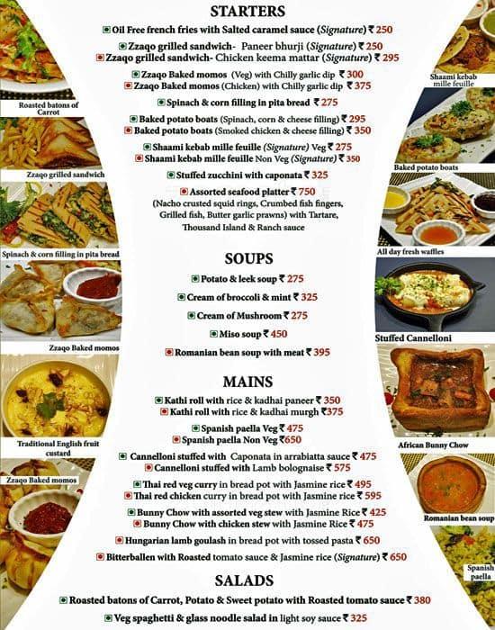 zzaqo menu menu for zzaqo lodhi road new delhi zomato