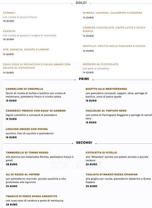 Bar Martini Dolce Gabbana Menu Zomato Italy
