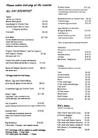 Lot 1 surfers paradise menu