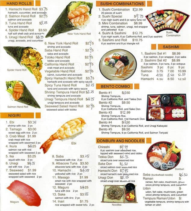 Menu At Sushi King Restaurant Alameda Park St