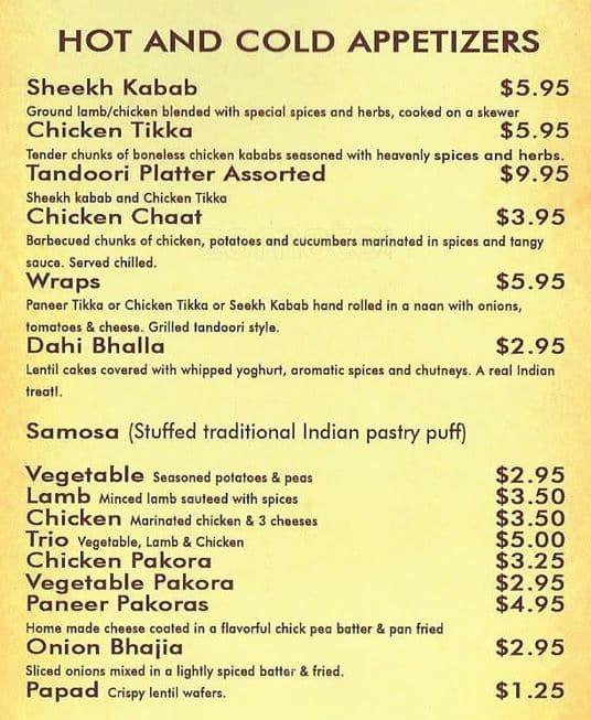 Maharaja Indian Food Fort Worth