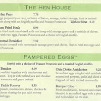 Le Peep, Flower Mound Menu