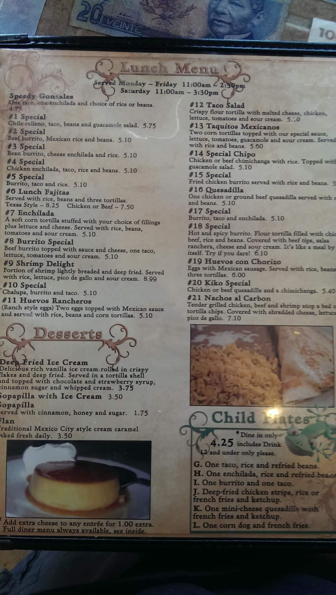 Menu At El Portal Restaurant Covington Us 190 Bus