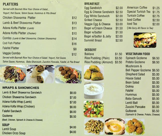 Shawarma House Food Menu