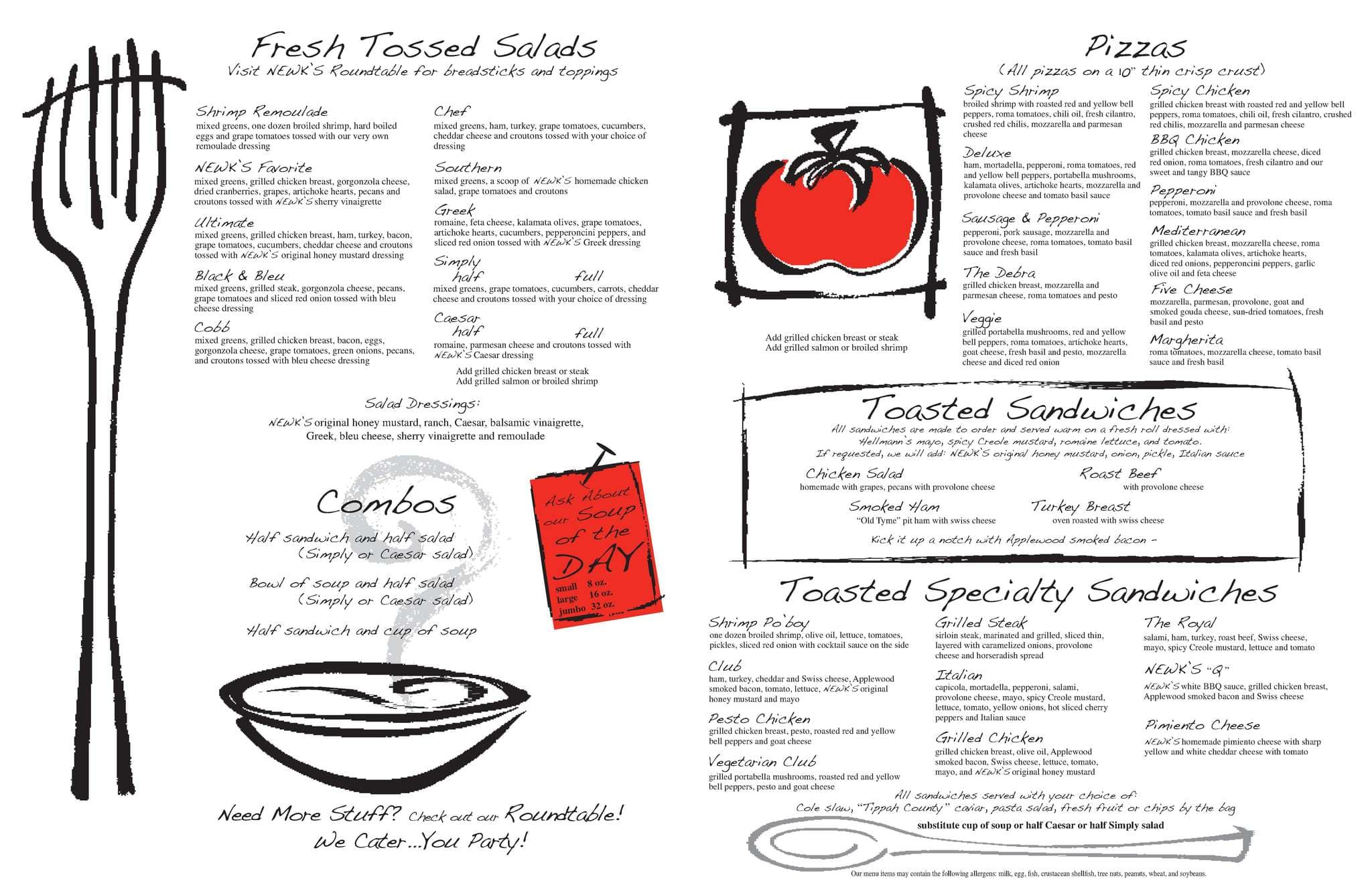 photo about Newks Printable Menu referred to as Menu at Newks Eatery pizzeria, Memphis, Poplar Ave