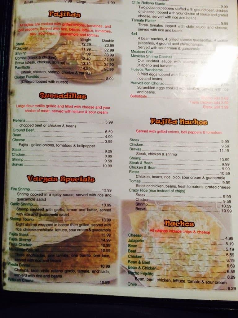Los Frijolitos Restaurant Marksville Menu
