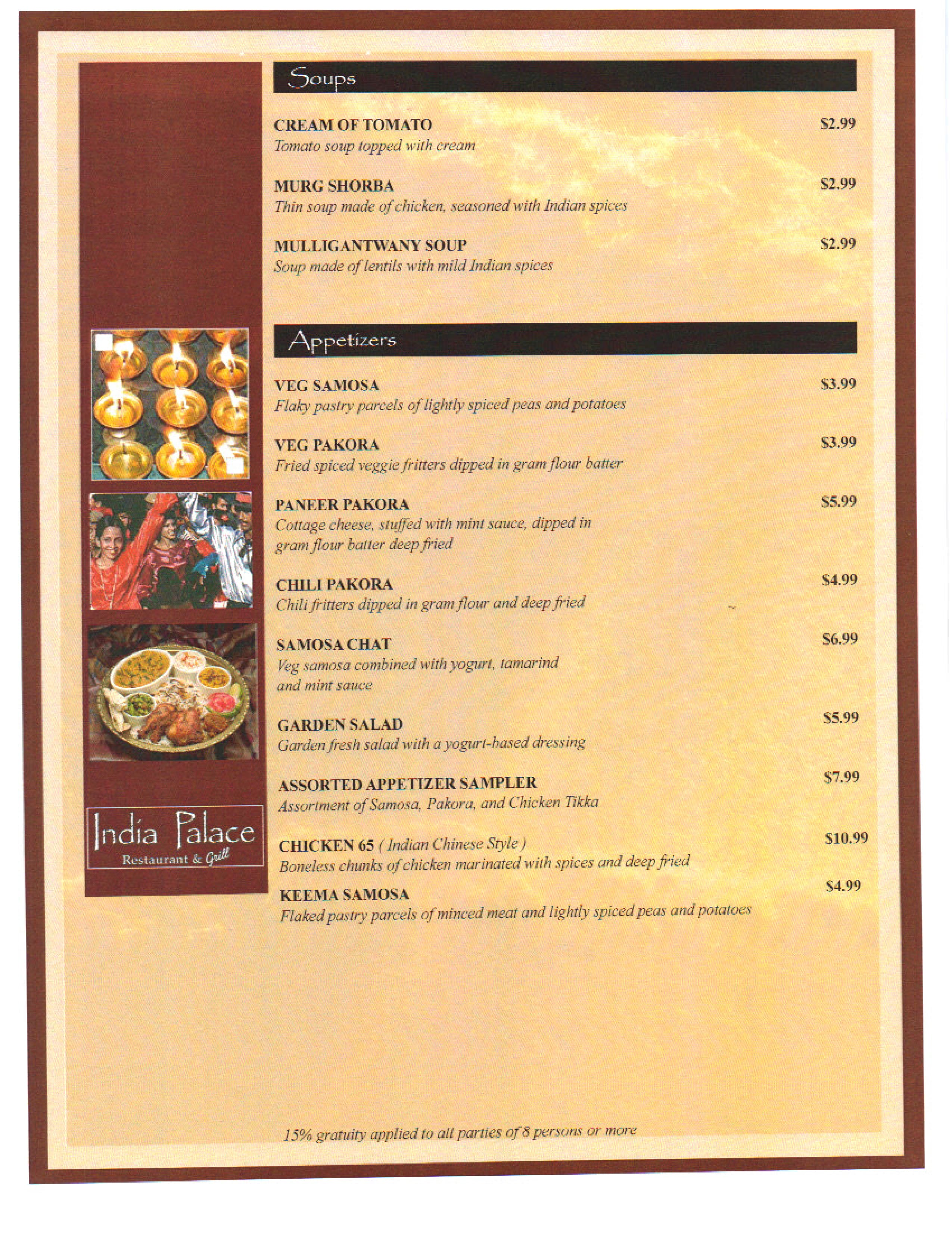 Amazing India Palace Menu Menu For India Palace Montgomery Beutiful Home Inspiration Semekurdistantinfo