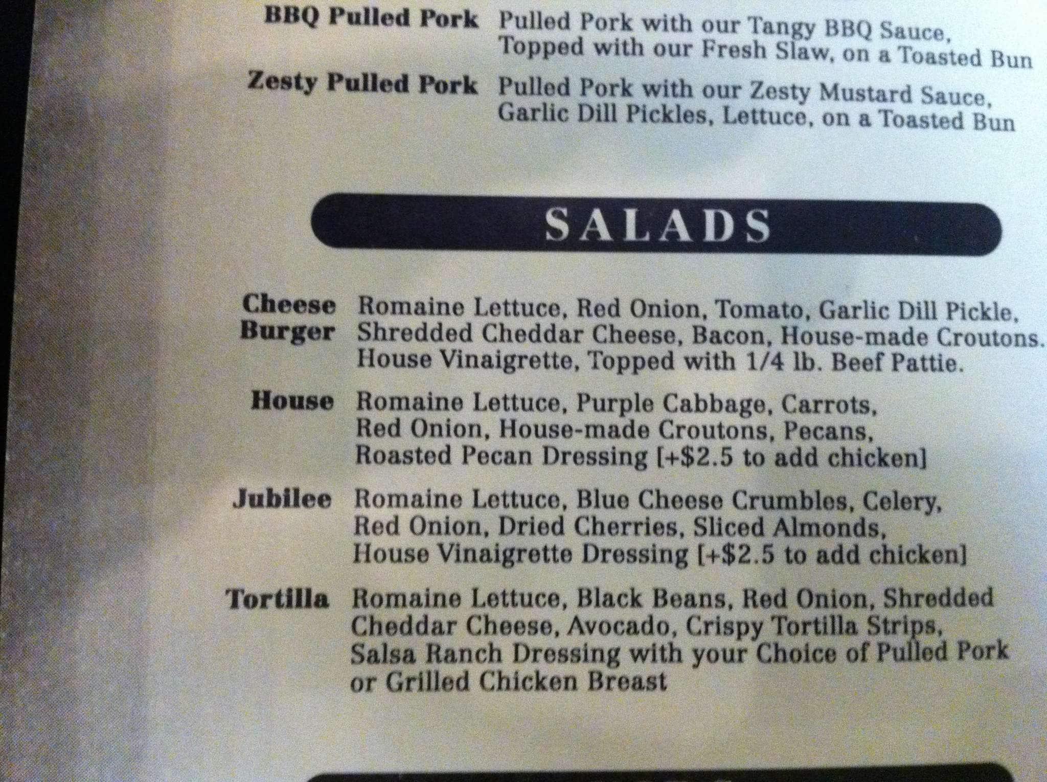 Fizz burgers and bottles a wichita foto del menu con for Botole per tetti prezzi