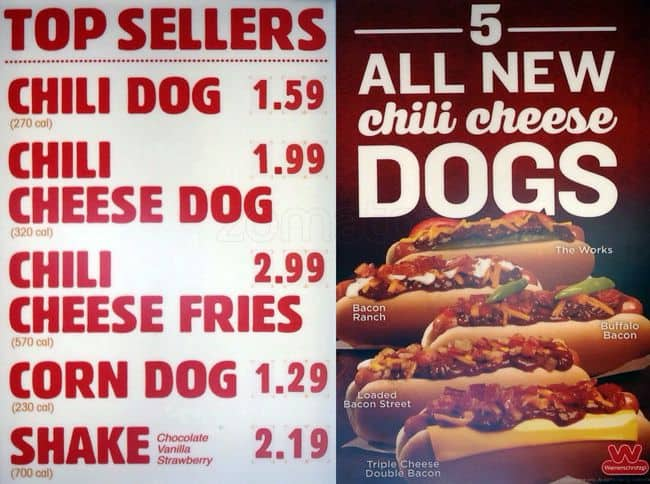 Wienerschnitzel Menu Prices. In , Wienerschnitzel opened its doors in Wilmington California. Their tasty hot dogs and other menu items are so delicious they gain more and more customers every day. Invite your friends and family to join you the next time you visit a Wienerschnitzel restaurant.