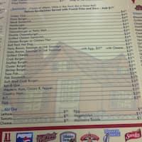 Scanned Menu For Family Restaurant