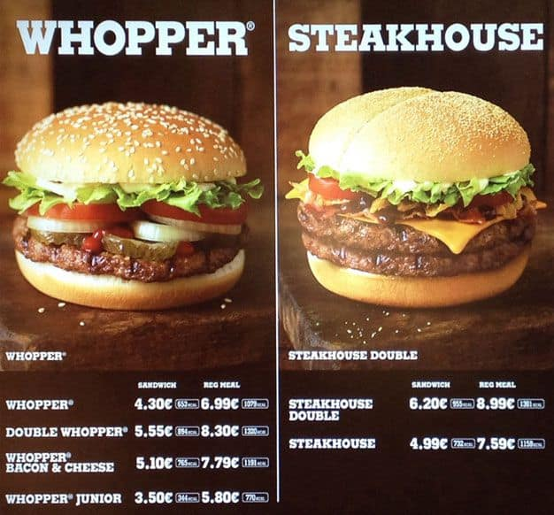 Burger King Menu, Menu for Burger King, Blanchardstown, Dublin ...