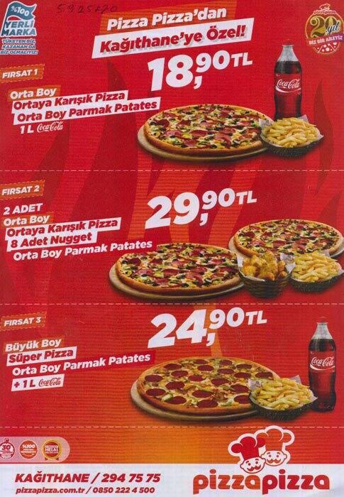 Pizza Pizza Menü Fiyatları