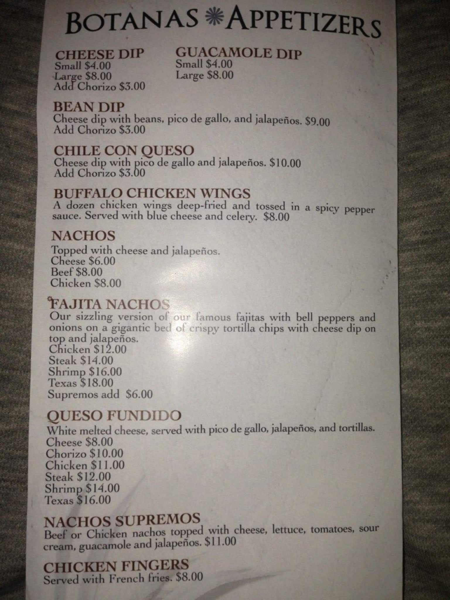 Iguanas Seafood Restaurant Menu