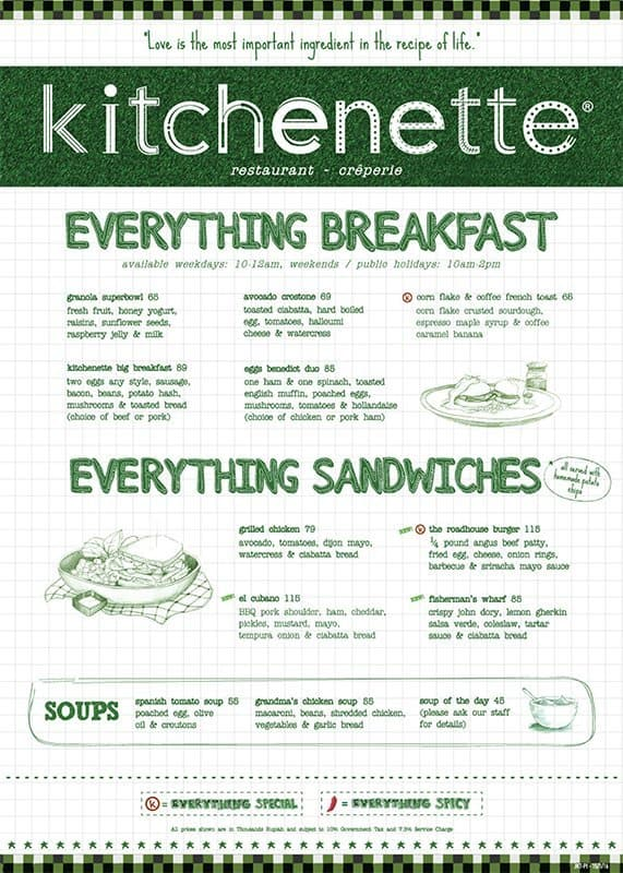 kitchenette menu menu for kitchenette thamrin jakarta zomato