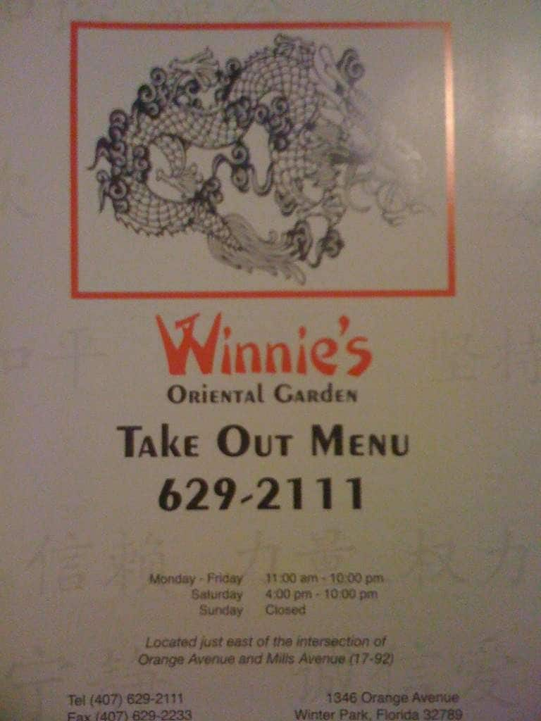 menu at winnie u0027s oriental garden 1346 n orange ave restaurant