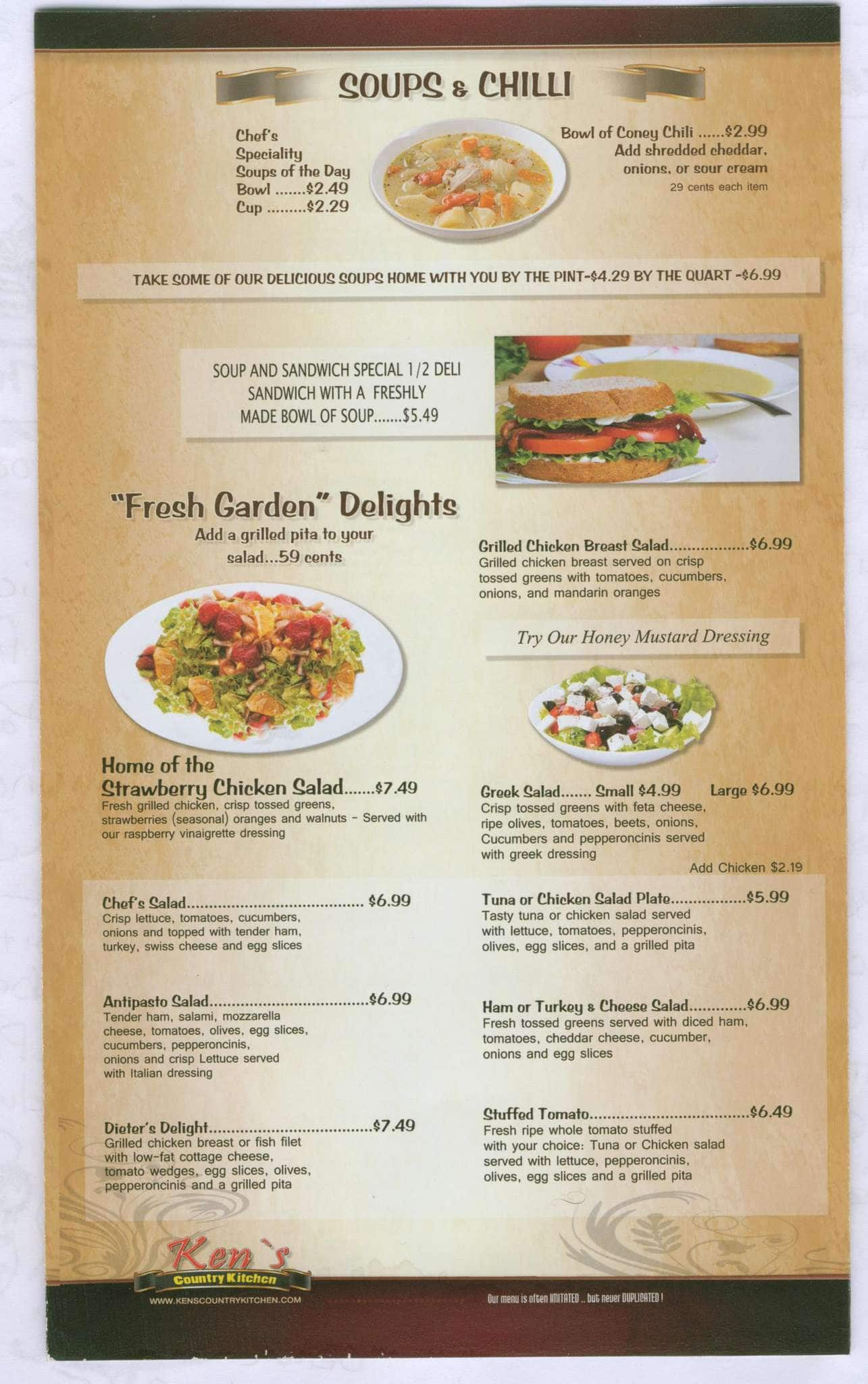 Ken S Country Kitchen Clinton Twp Menu