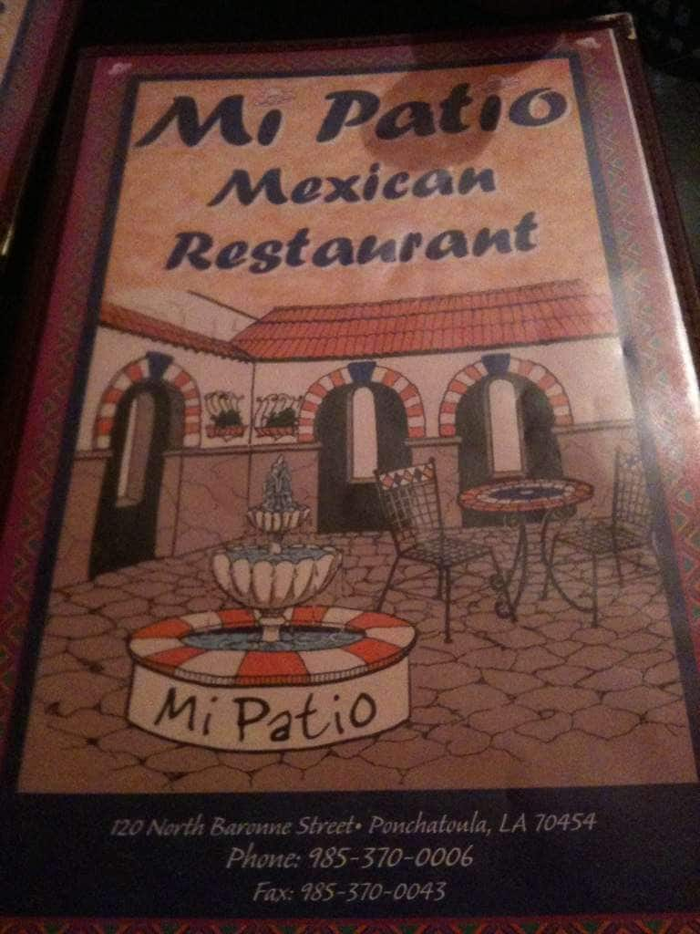 Scanned Menu For Mi Patio Mexican Restaurant