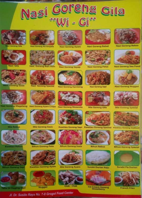 nasi goreng wi gi grogol menu