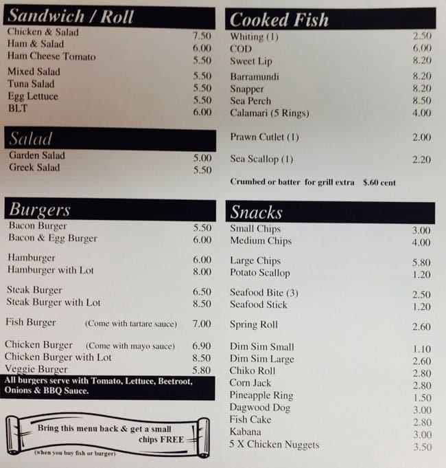 Mr burger fish menu menu for mr burger fish for Two fish menu