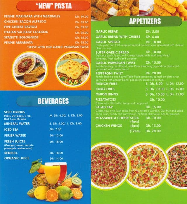Round Table Pizza Menu And Prices Best Home Interior - Round table pizza menu prices