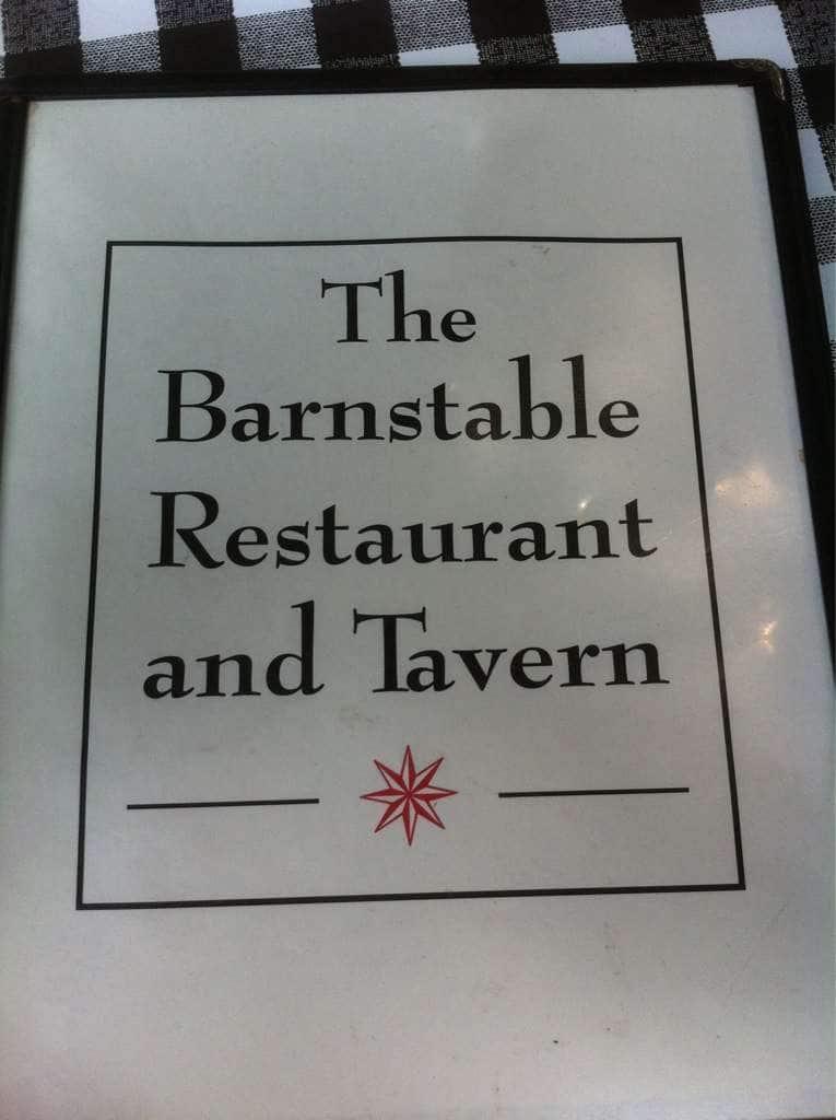 barnstable restaurant tavern barnstable menu