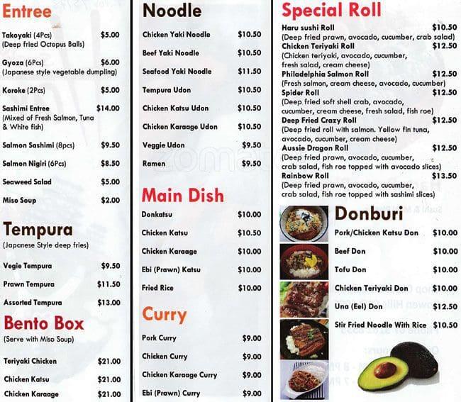 Haru Sushi Cafe Bowen Hills