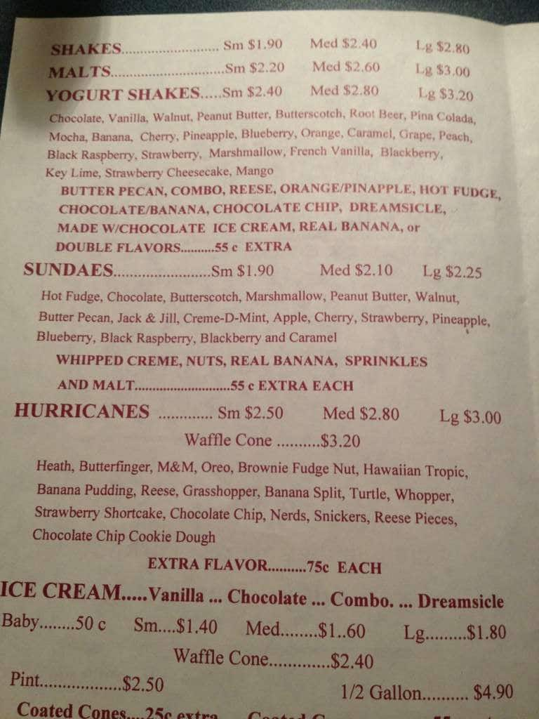 Dairy Barn Menu For Athens