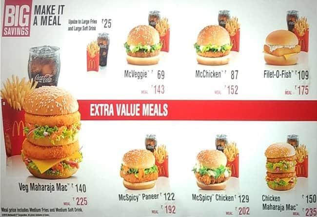 Mcdonald 39 s menu menu for mcdonald 39 s mi road jaipur zomato for Mcdonald s fish sandwich price
